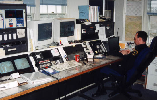 Computer aided dispatch systems for police control rooms surveillance
